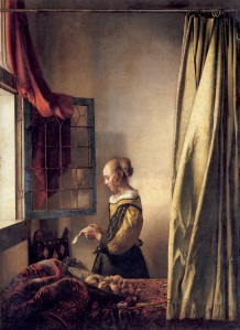 Girl-reading-a-letter-by-an-open-window-by-Johannes-Vermeer